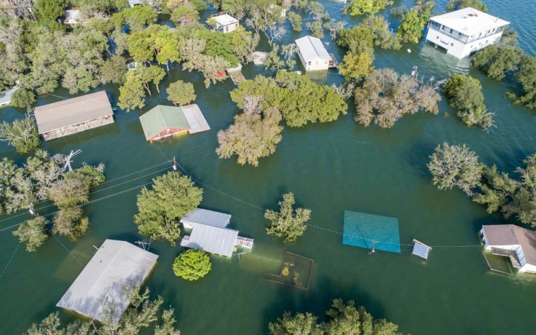 Example of flooded homes
